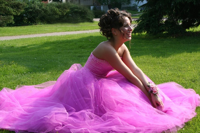 Exempel für ein Brautkleid